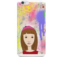 Lola- girl with pink cap iPhone Case/Skin