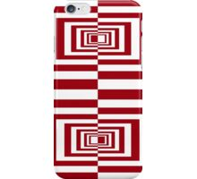 Red And White Geometric Rectangles iPhone Case/Skin