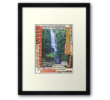 Chasing Waterfalls (Don't Go) Framed Print