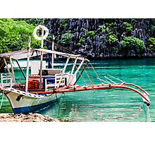 Tropical seashore in Philippines. Photographic Print