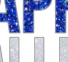 Happy Valley Glitter Sticker