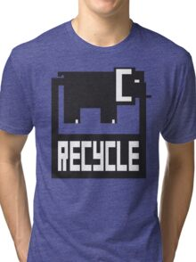 go green - recycle your waste Tri-blend T-Shirt