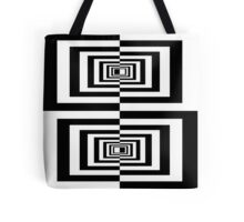 Black And White Geometric Rectangles Tote Bag
