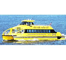 New York - Water Taxi Photographic Print