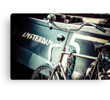 Amsterdam bicycle Canvas Print