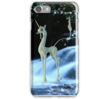 Little Unicorn at the waterfall iPhone Case/Skin