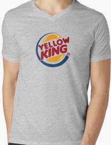 Yellow King Logo 2 Mens V-Neck T-Shirt
