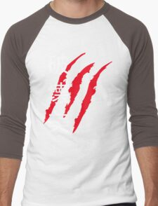 Beauty In Destruction (White Text) - Street Fighter Vega Men's Baseball ¾ T-Shirt