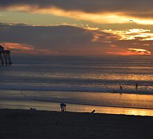 Evening Glow ~ Imperial Beach, California by Marie Sharp