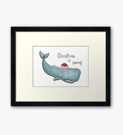 Day 2: Whale Framed Print