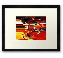 bullet-through-time-warp  Framed Print