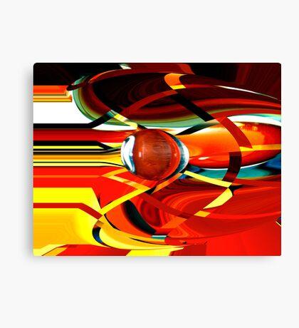 bullet-through-time-warp  Canvas Print