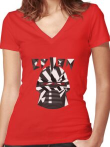 Dazzle Camo Cylon - Battlestar Galactica Women's Fitted V-Neck T-Shirt