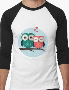 Lovers owls Men's Baseball ¾ T-Shirt