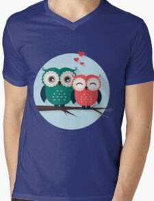 Lovers owls Mens V-Neck T-Shirt