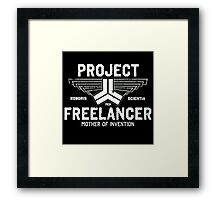Red vs Blue Project Freelancer Framed Print