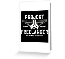 Red vs Blue Project Freelancer Greeting Card