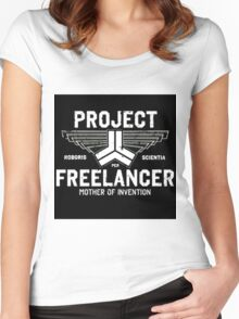 Red vs Blue Project Freelancer Women's Fitted Scoop T-Shirt