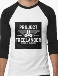 Red vs Blue Project Freelancer Men's Baseball ¾ T-Shirt