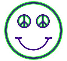 Peace Smiley Photographic Print