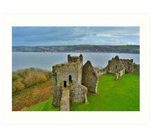 Llansteffan Castle Art Print