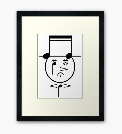 Music Face Framed Print