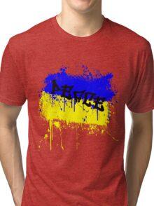 Peace- Ukraine flag colors Tri-blend T-Shirt
