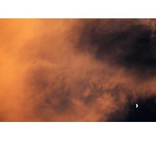 Moon and Cloud Photographic Print