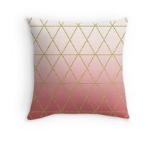 Rose Gold Geometric Throw Pillow