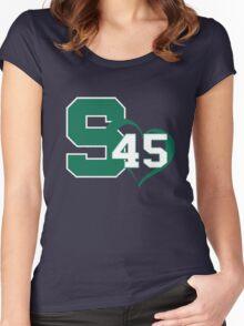 Denzel Valentine #45 MSU T-Shirt  Women's Fitted Scoop T-Shirt
