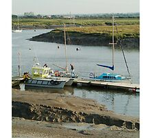 Pilots boat, Burnham and Highbridge estuary. by Antony R James