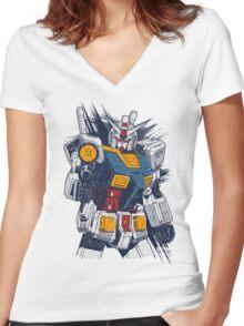 Gundam Love Women's Fitted V-Neck T-Shirt