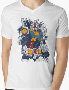 Gundam Love Mens V-Neck T-Shirt