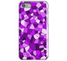Monochrome Purple Geometric Mosaic Pattern iPhone Case/Skin