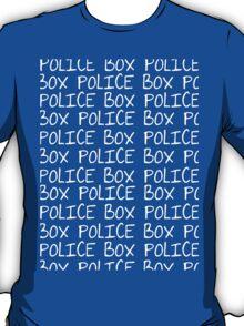 the POLICE BOX shirt T-Shirt