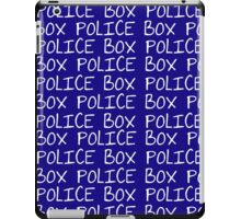 the POLICE BOX shirt iPad Case/Skin