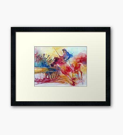 Il fantino Framed Print