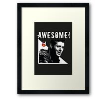 Dean Winchester from Supernatural Awesome Framed Print