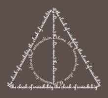 Deathly Hallows Words in White by kdm1298