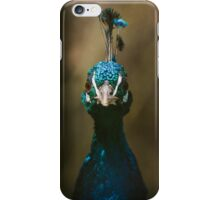 Peacock Front View Portrait iPhone Case/Skin