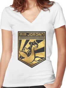 """AIR JORDEN!"" Twitch Plays Pokemon Merchandise! Women's Fitted V-Neck T-Shirt"
