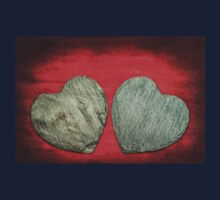 Abstract Stone Hearts T-Shirt Kids Tee