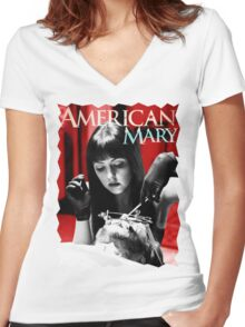 American Mary Women's Fitted V-Neck T-Shirt