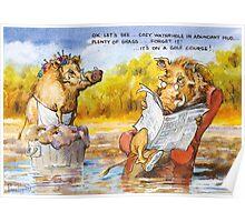 Cozy waterhole Poster