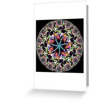 Non-Euclidean Kaleidoscope Greeting Card