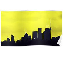 Toronto Skyline in Yellow Poster