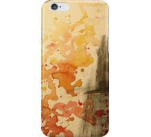 Abstract watercolor Fire iPhone Case/Skin