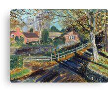 Near Brent Knoll, Somerset. Canvas Print