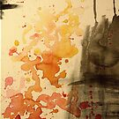 Abstract watercolor Fire by Chelsea Leichter