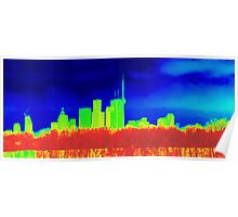 Toronto Skyline in Colors Poster